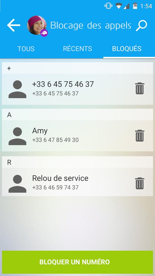Les parents peuvent bloquer les appels et les messages d'un contact de votre enfant